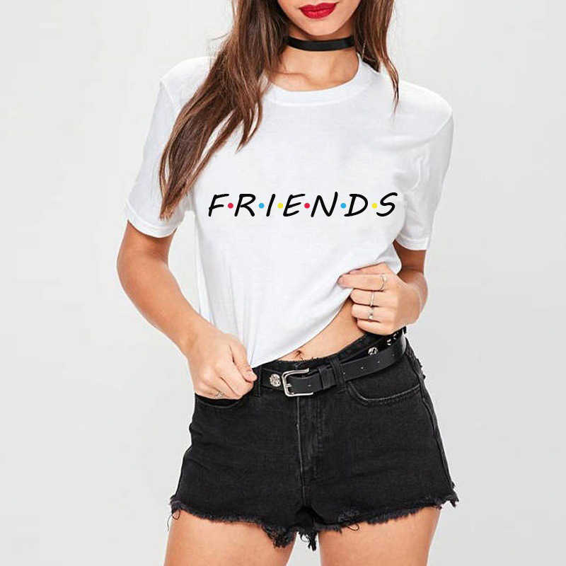 a52d6ec1 ... Friends Tv Show T-Shirt Letter Printing Aesthetic Clothing Women's  Graphic Tees Tumblr Popular Summer ...
