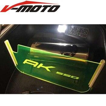 Logo (AK 550) dla KYMCO AK550 motocykl akrylowy przedział bagażowy AK550 przegroda przedziału samochodowego umieszczona płyta izolacyjna