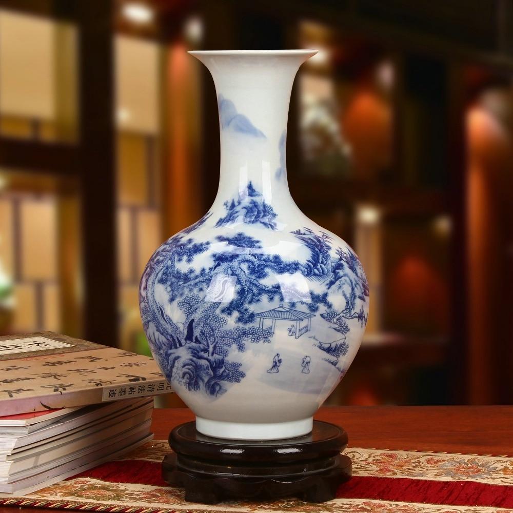 Landscape Qing Qianlong Mark Ancient Home Porcelain Vase