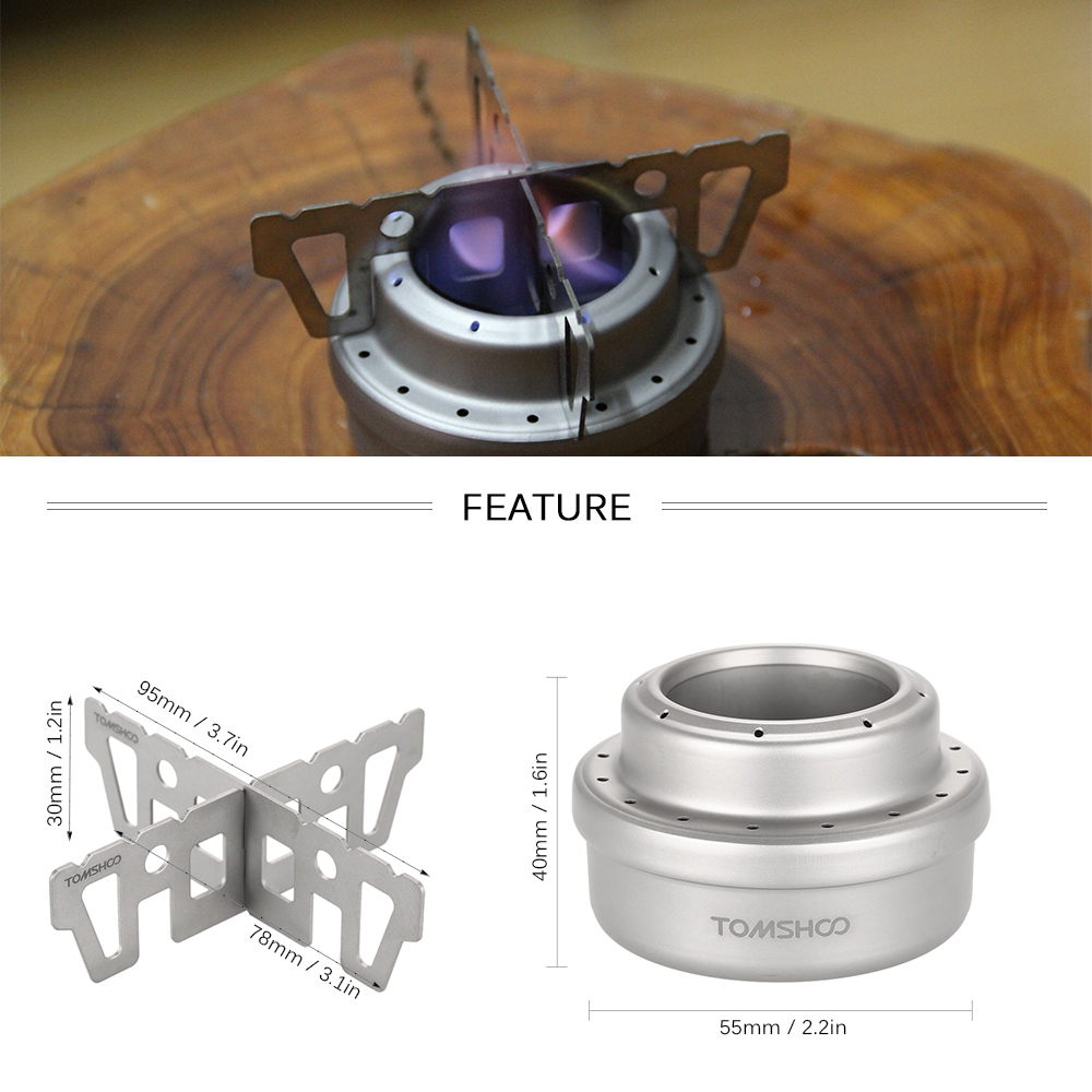 Ultra-light Backpacking Outdoor Titanium Spirit Alcohol Stove Cross Stand