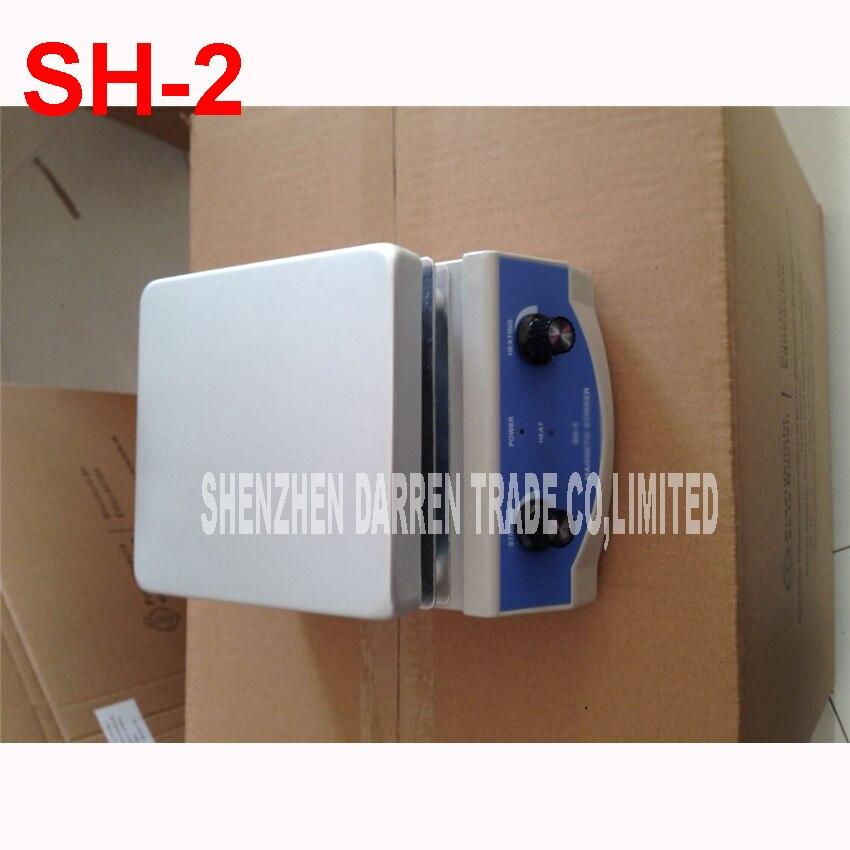 110V/220v 50Hz SH-2 Magnetic Hotplate Stirring Machine 500ML Stirring Health Laboratory Adjustable Continuously 0-1600r/min