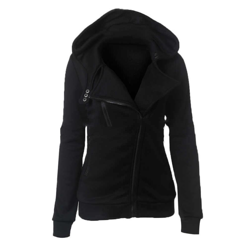 Sudaderas con capucha de Invierno para mujer con capucha de manga larga con capucha Harajuku chica sudadera moda streetwear negro Goth Hoodies 2018 otoño