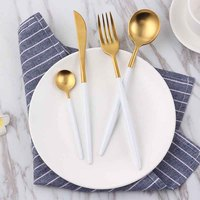 1set lot Stainless steel Fork Spoon Knife set Kitchen tool Wedding birthday Anniversary bridal shower event party decoration