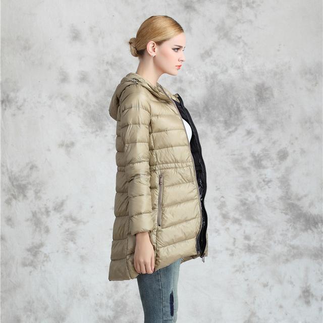 Arbitmatch Abajo Parka Marca Winter Jacket Women Capa Outwear Chaqueta 90% Plumón de pato Abrigo Parka Con Capucha Femenina de Gran Tamaño S-6XL