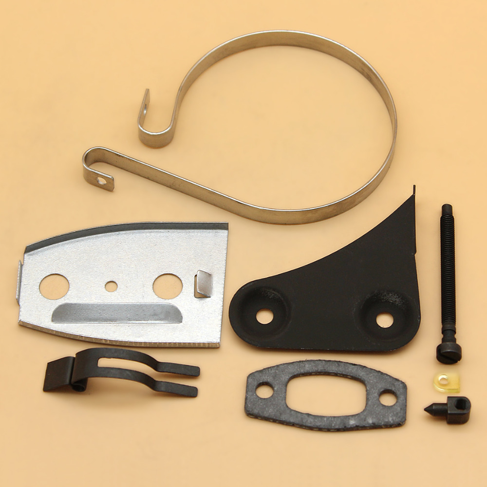 Chain Tensioner Brake Band Muffler Gasket Bracket Kit For HUSQVARNA 50 51 55 Rancher Gas Chainsaw Replacement Parts