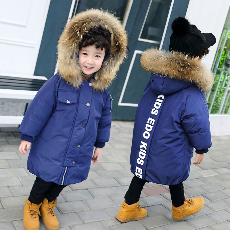 Novos Meninos Childen Inverno Parka Casacos Quentes Meninos Crianças Roupas de Bebê de Algodão Grosso Para Baixo Outwear Jaqueta de Inverno Frio