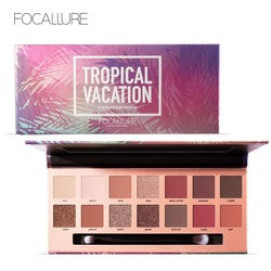 FOCALLURE Eyeshadow Matte Smooth Pigment Cosmetic 14 Earth Color Natural Makeup Eye Shadow Palettes