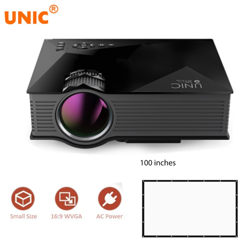 UNIC UC46 Mini Simplified Micro LED Video Home Cinema Projector with WIFI Ready Support Miracast DLNA