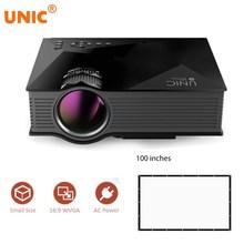 Unic UC46 + мини упрощенный Micro LED видео домашнего Кино проектор с WI-FI готов Поддержка Miracast Dlna Airplay