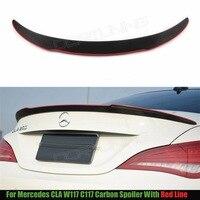 For Mercedes CLA W117 C117 CLA 200 250 260 A45 W117 Carbon Fiber Rear Trunk Spoiler