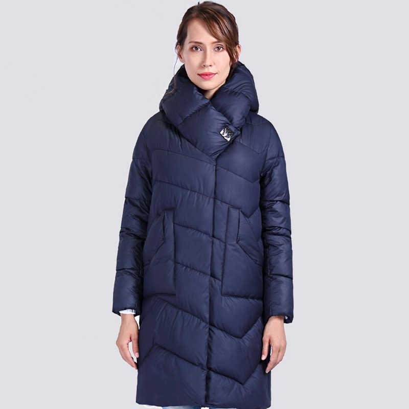 2020 봄 가을 여성 파카 따뜻한 방풍 얇은 여성 코트 긴 플러스 사이즈 퀼트 코튼 스탠딩 칼라 자켓 Outwear