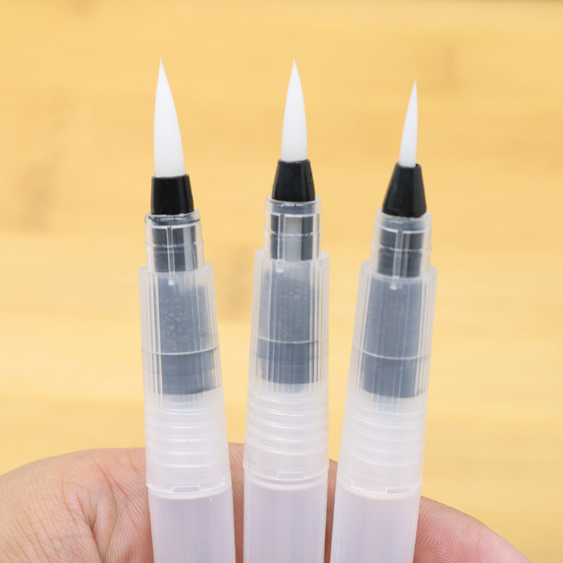 3pcs Tap Water Storage Calligraphy Brush Color Lead Solid Watercolor Calligraphy Painting Illustration Pen Office Stationery
