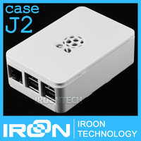 case J2: Official Original Case Box for Raspberry PI 3 model B PI3 and PI 2 White ABS Plastic Box Cover Shell Enclosure Housing