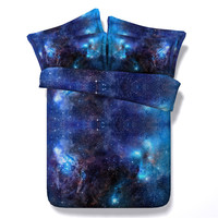 Vivid Moon Star Galaxy Bedding Sets Twin Full Queen King Size Universe 3 4pc 3d