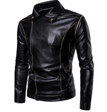 Motorcycle Jacket Men Classical Vintage Retro PU Leather Punk Windproof Riding Casual Bomber Moto