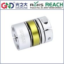 купить GLB aluminum alloy 8 screws double diaphragm series shaft couplings по цене 445.5 рублей