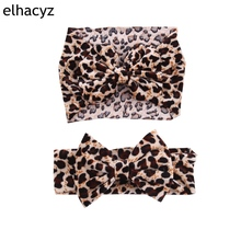 1PC Retail 2019 Summer/Spring Leopard Velvet 5 Hair Bow Elastic Headband Classical Photography DIY Accessories Headwrap