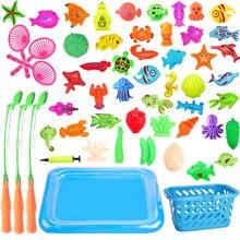 С надувным бассейном, магнитная рыболовная игрушка, набор удочек для детей, детская модель, игры в рыболовные игры, игрушки на открытом воздухе