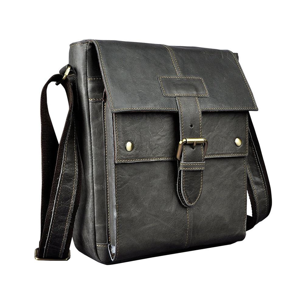 Brand New Genuine Cow Leather 10 Tablet PC Pack Men's Shoulder Messenger Bag Casual Travel Business OL Packs Vintage Full Grain redfox сумка full size business messenger 1000 черный