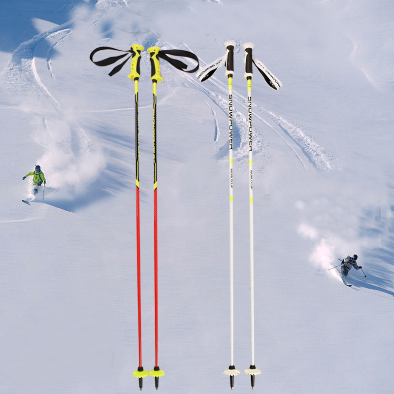 2019 New Pro Ski Snow Poles Carbon Fiber Sticks Walking Alpenstock For Snowboard Hiling Trekking Aluminumi Alloy 105cm-125cm