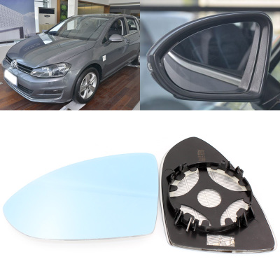 For Volkswagen Golf 7 Large Field Of Vision Blue Mirror Anti Car Rearview Mirror Heating Wide-angle Reflective Reversing Lens