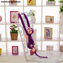 1PCS New Long-Armed Monkey Plush Toys Pendant Cute Cartoon Monkeys Stuffed Toy Doll Gifts Hot Sale 2019 60CM HANDANWEIRAN