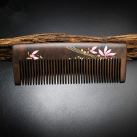 2017 High Quality 1pcs 12 5cm Chacate Preto Handmade Comb Wood Hair Combs Makeup Head Massager