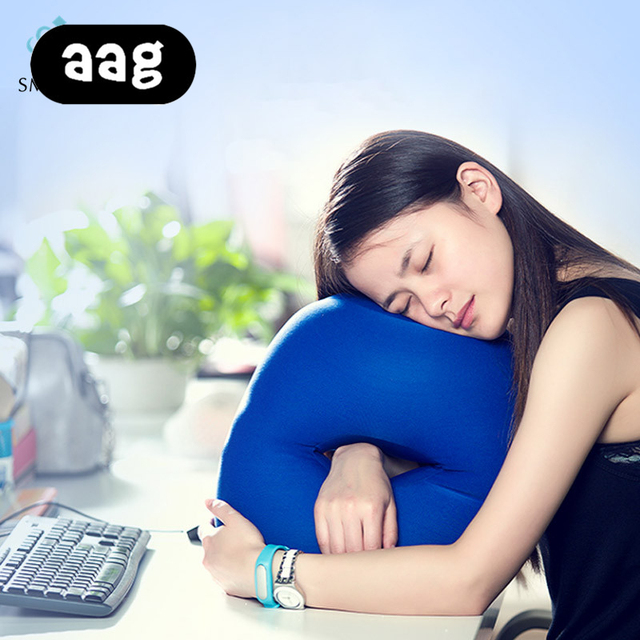 Us 15 99 25 Off Aag Soft Nap Head Pillow Multifunctional Portable Airplane Cartravel Office Table Lunch Break Cushion Desk Sleeping Neck Pillow In
