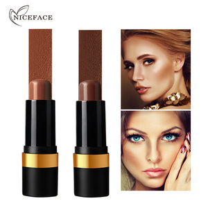 NICEFACE 2 Sombra 3D Fosco Sombra Cremosa Vara Contorno Contorno Bronzer Maquiagem Longo Vestindo Livre de Óleo Hidratante Esculpido Rosto
