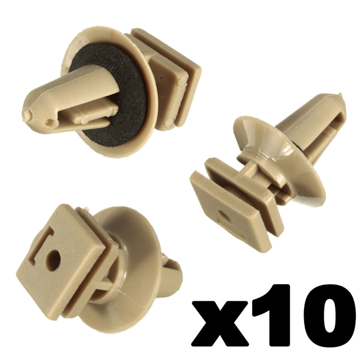 Tan Trim Clips Perfect for VW T4 /& T5 Carpet /& Van Linings 10x 8mm Long Beige
