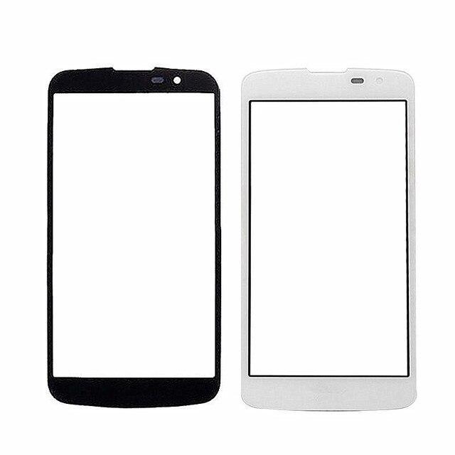 K7 Bảng Điều Khiển Phía Trước Sensor LCD Hiển Thị Glass Bìa Lens TP Thay Thế đối VỚI LG K7 X210 X210DS LS675 Tribute 5 Màn Hình Cảm Ứng Glass bìa