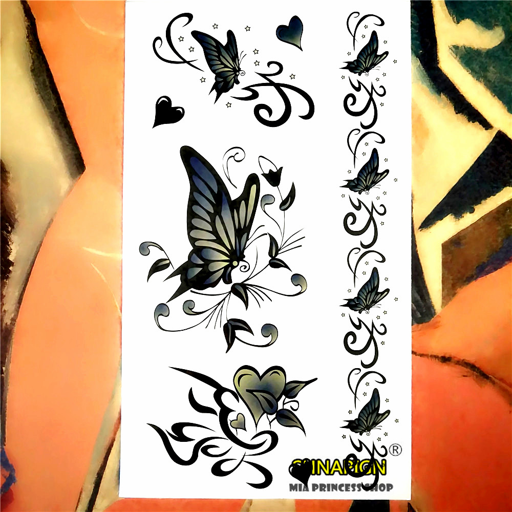 Popular green butterfly tattoos buy cheap green butterfly for Painless permanent tattoos