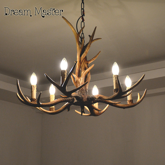 Europe country 9 head candle antler chandelier american retro europe country 9 head candle antler chandelier american retro resin deer horn lamps home decoration lighting aloadofball Image collections