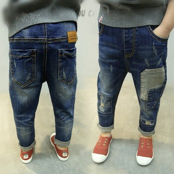 retail 2018 spring cotton pants boys jeans kids stylish fashion children trousers pencil pants roupas infantis menina leggings Boys Jeans
