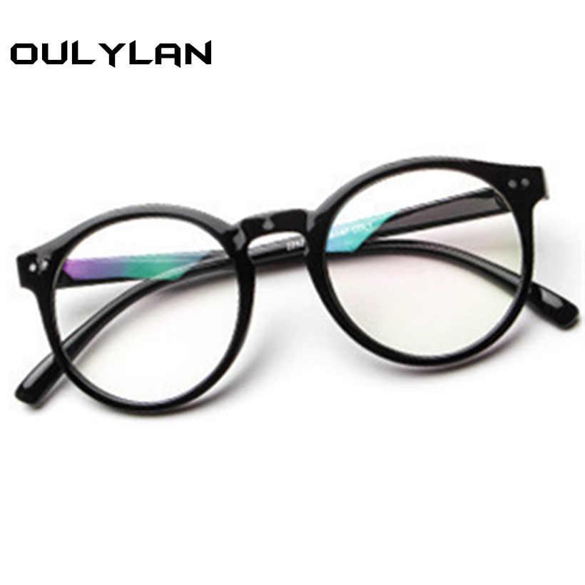 ... Oulylan Glasses Frame Women New Retro Literary Small Fresh Round  Glasses Frame Luxury For Men Round ... cde987cf398