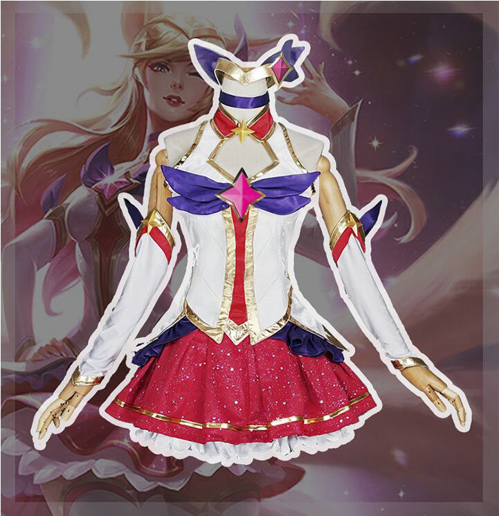 2018 New Halloween Christmas Ahri LOL Guardian of the Star Uniforms Cosplay Costume Highly Reductive