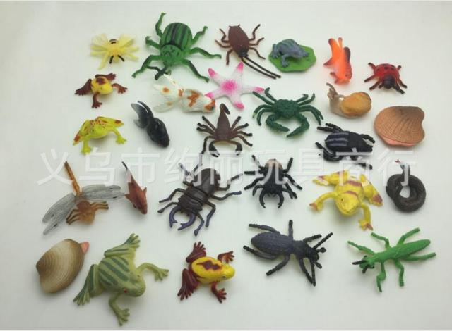 100pcs/lot Small Insects/animal Toy2.5 5cm, Home Decoration Art