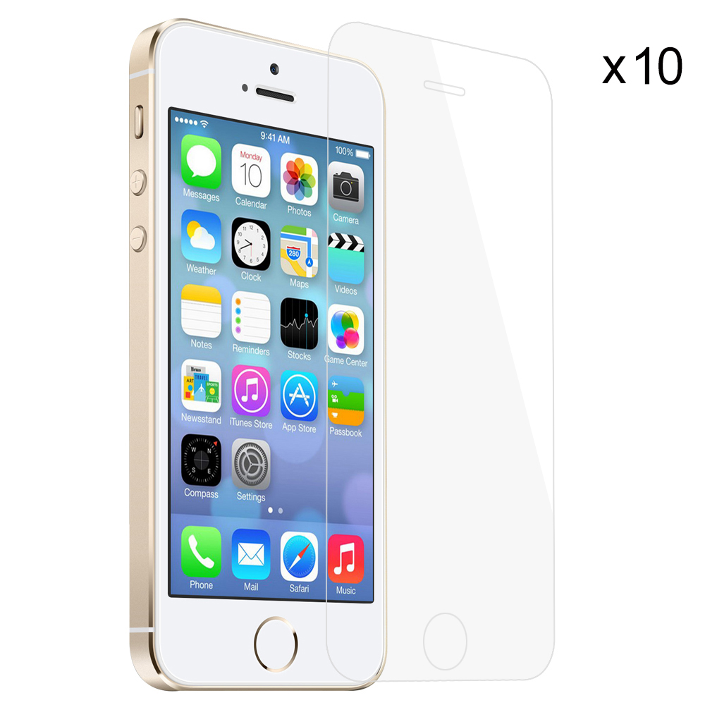10pcs for iPhone SE 5S 5C 5 Tempered Glass Screen Protector Case Friendly Bubble Free Accessaries