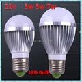 12V 3W 5W 7W High brightness LED Bulb Lamp E27 Cold white / warm white 300-700LM led lamp 2-year warranty