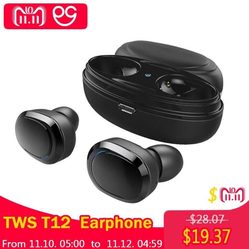 OGV T12 TWS Bluetooth Kopfhörer Mini Bluetooth V4.1 Headset Doppel Drahtlose Ohrhörer Cordless Kopfhörer Kulakl k Casque FÜR AAPLE