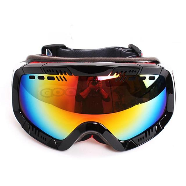 POLISI Adult Ski Snowmobile Snow Anti-Fog Goggles Sunglasses Motorcycle Snowboarding Mountaineering Glasses Eyewear