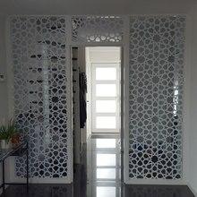 Calcomanía de puerta con patrones islámicos personalizados, vinilo adhesivo para ventana, decoración del hogar, papel tapiz autoadhesivo extraíble, murales A01