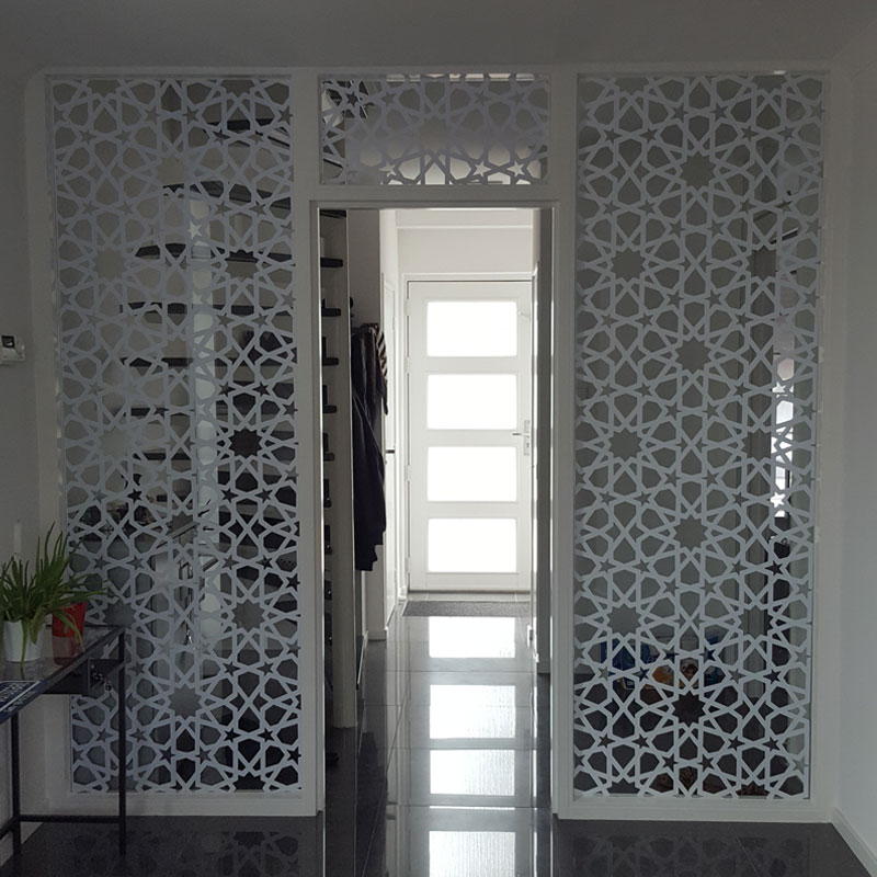Custom Islamic Patterns Door Decal Large Size Window Vinyl Sticker Home Decoration Removable Self-adhesive Wallpaper Murals A01