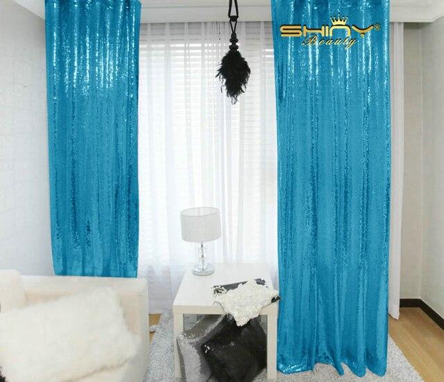 beste uitverkoop 2 stks sequin curtain 3x8ft shimmer sequin stof fotografie sequin gordijnen