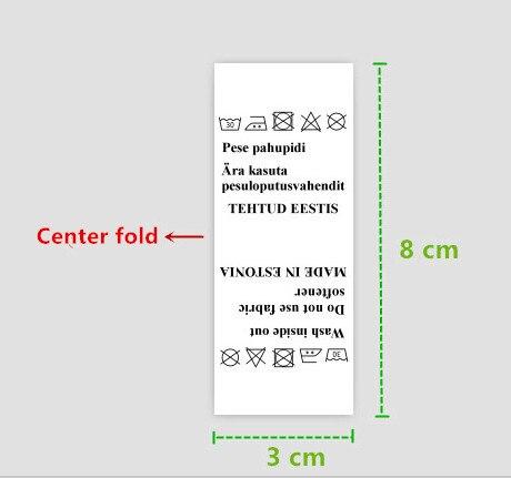 1000 pcs, 3*8 cm Custom witte kleding labels damast polyester doek geweven label-in Kledinglabels van Huis & Tuin op  Groep 1