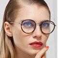 2016 Nuevo de Alta Calidad de Arte Del Metal TR90 Vidrios Ópticos Lente Transparente Gafas de miopía Enmarcan Mujeres Ronda Retro Gafas Hombres gafas de ver.