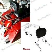Chrome 4 Point Docking Stealth Luggage Rack Sissy Bar Backrest Harley Touring 2014 Later