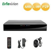 Evtevision 4CH 4MP 3MP AHD DVR 1080P 5 In 1 AHD TVI CVI DVR NVR H