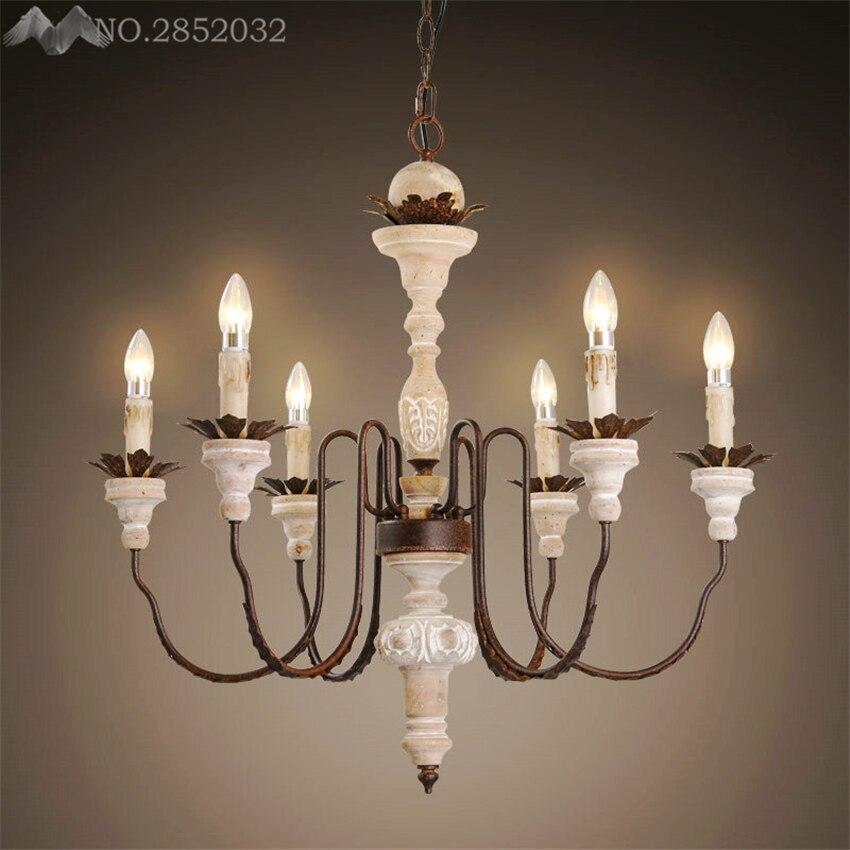 LFH Wrought Iron Modern pendant Chandelier Vintage Chandelier Ceiling Candle Lights Lighting Fixtures Iron Black
