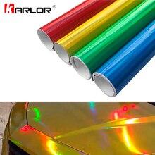 30cm * 100cm Chrome Laser samochodów naklejki holograficzne Wrap Rainbow Vinyl Film Laser poszycia zmienia kolor Auto Wrap arkusz Car styling